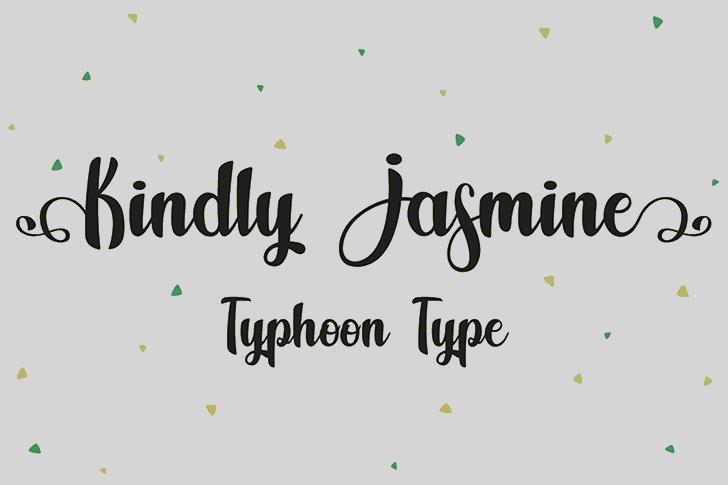 Kindly Jasmine font by Typhoon Type - Suthi Srisopha