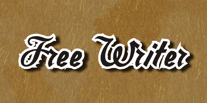 Free Writer font by Intellecta Design