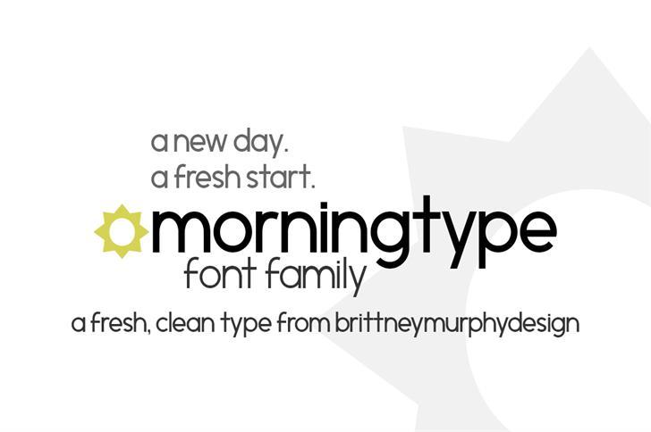 morningtype font by Brittney Murphy Design