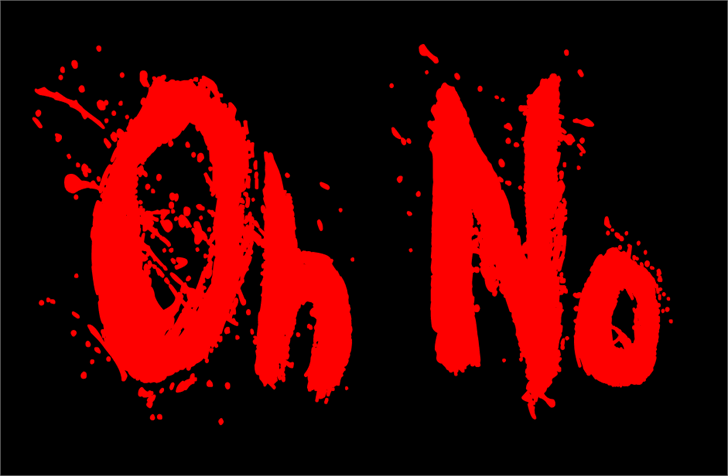 Oh No font by Jonathan S. Harris