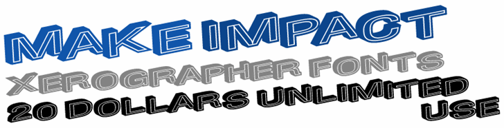MakeImpact font by Xerographer Fonts