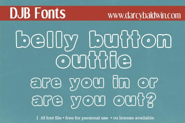 DJB Belly Button-Outtie font by Darcy Baldwin Fonts