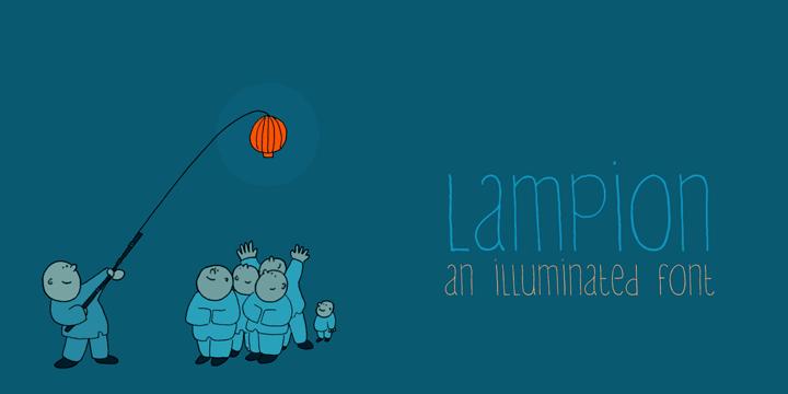 DK Lampion font by David Kerkhoff