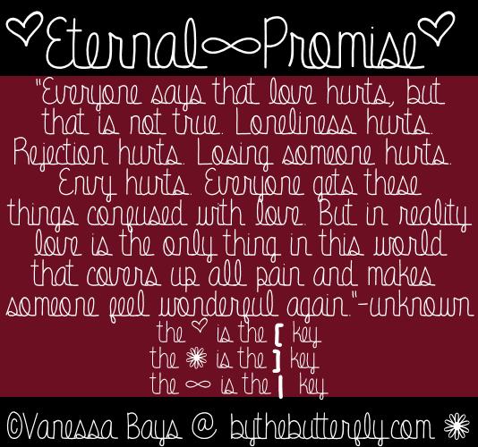 Eternal Promise font by ByTheButterfly