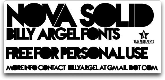 Nova SOLID font by Billy Argel