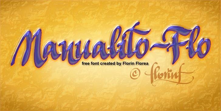 Manualito-Flo font by florinf