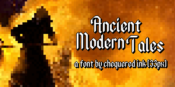 Ancient Modern Tales font by Chequered Ink