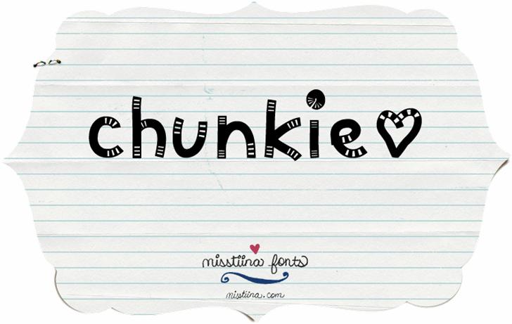 MTF Chunkie font by Miss Tiina
