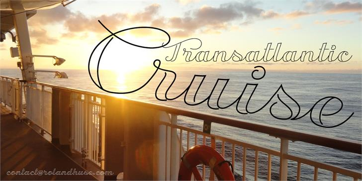Transatlantic Cruise Demo font by Roland Huse Design