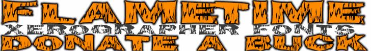 FlameTime font by Xerographer Fonts