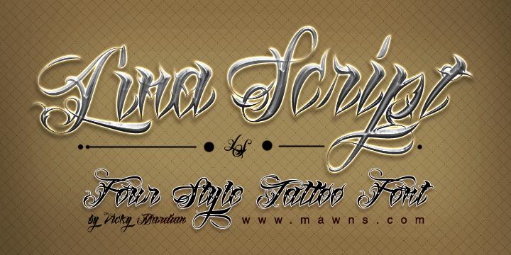 Lina Script Demo font by Måns Grebäck