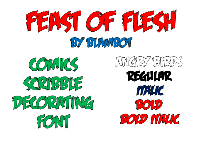 Feast of Flesh BB font by Blambot