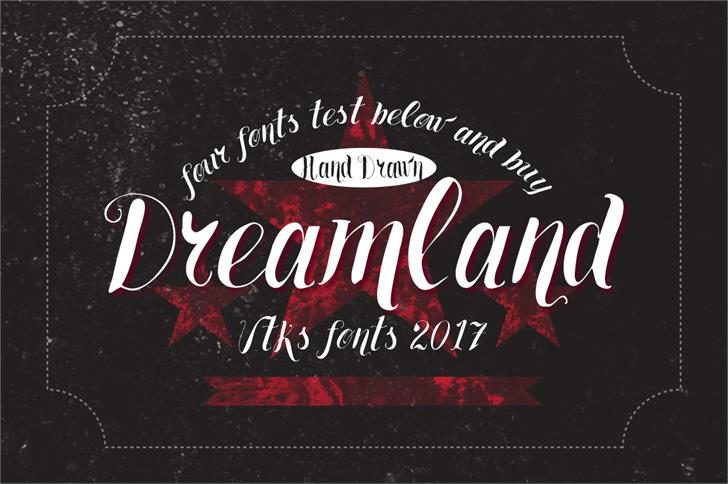 Vtks Dreamland555 font by VTKS DESIGN
