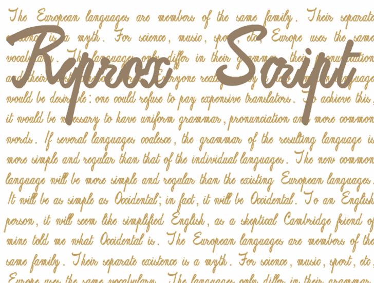 ReproxScript font by Intellecta Design