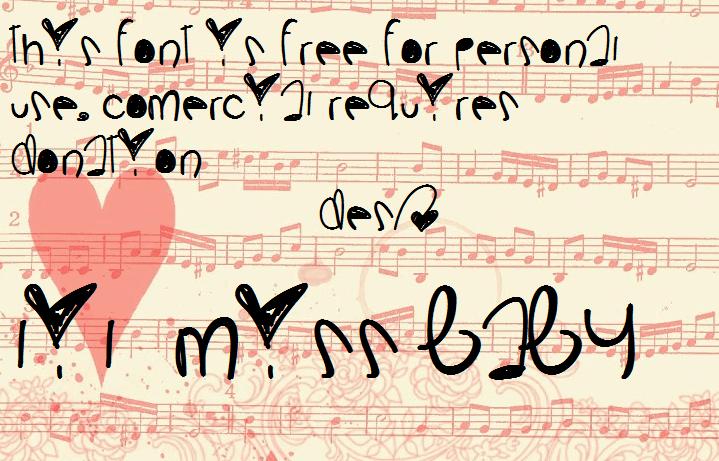 LilMissBaby font by Des