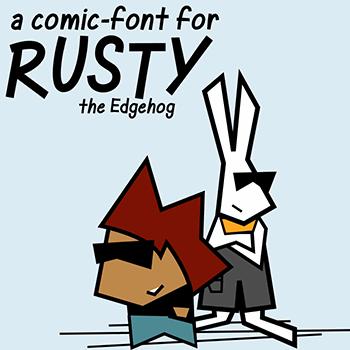 Rusty font by Misti's Fonts