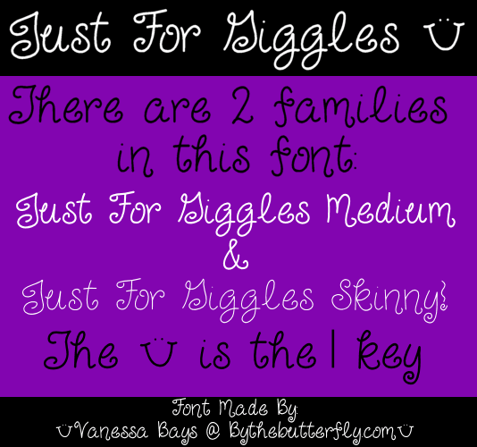 Just For Giggles font by ByTheButterfly
