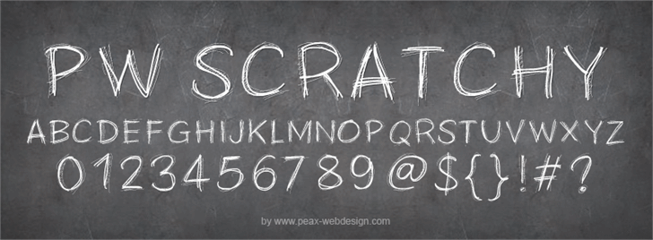 PWScratchy font by Peax Webdesign