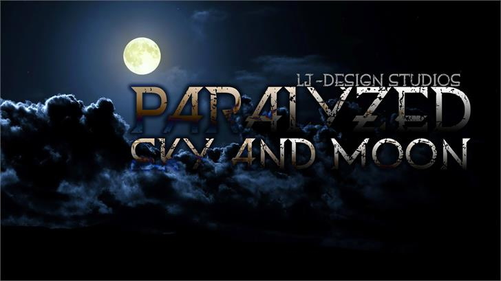 Paralyzed sky and moon font by LJ Design Studios
