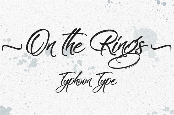 On the Rings font by Typhoon Type - Suthi Srisopha