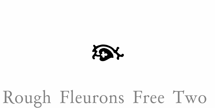 Rough Fleurons Free Two font by Intellecta Design