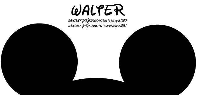Walter font by Fontomen