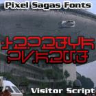 Visitor Script font by Pixel Sagas
