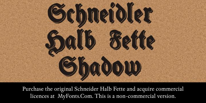 Schneidler Halb Fette Shadow font by Intellecta Design