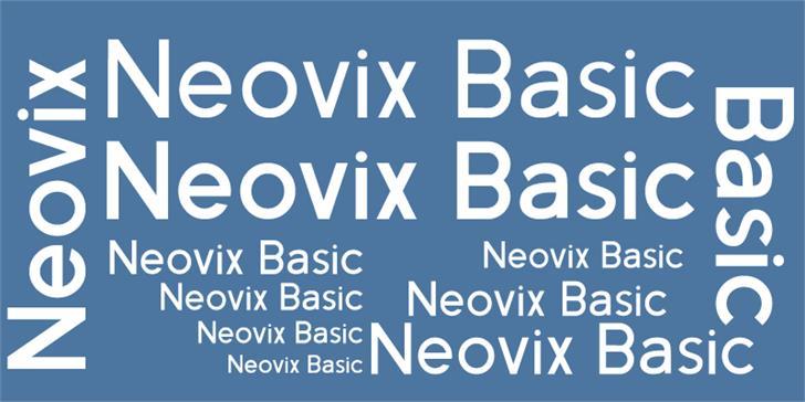 Neovix Basic font by Erion Dyrmishi
