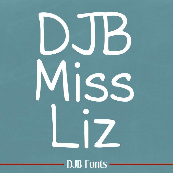 DJB Miss Liz font by Darcy Baldwin Fonts