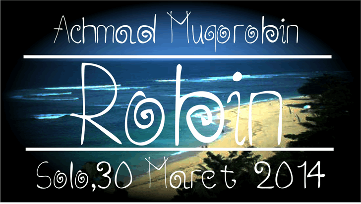 Robin font by Murizar