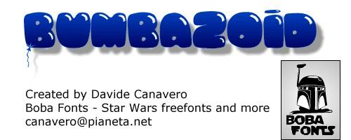 Bumbazoid font by Boba Fonts