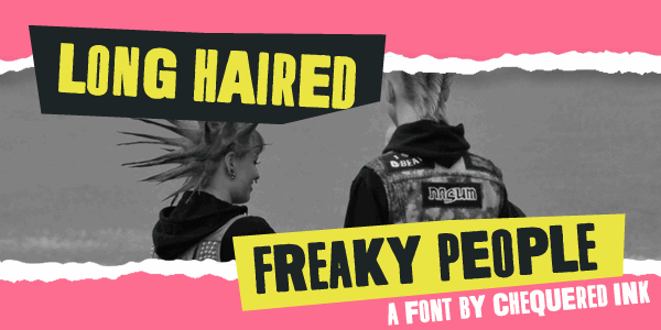 Long Haired Freaky People font by Chequered Ink