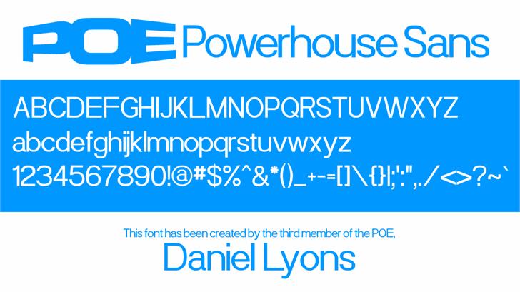 Powerhouse Sans font by 538Fonts
