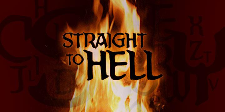 Straight To Hell BB font by Blambot