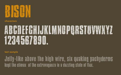 Bison font by Marc Clancy