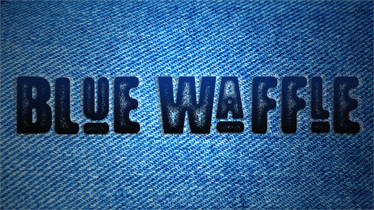 Blue Waffle font by Font Monger