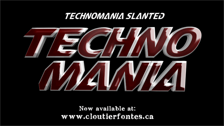 CF TechnoMania font by CloutierFontes