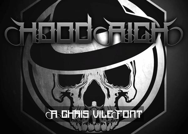 Hood Rich font by Font Monger