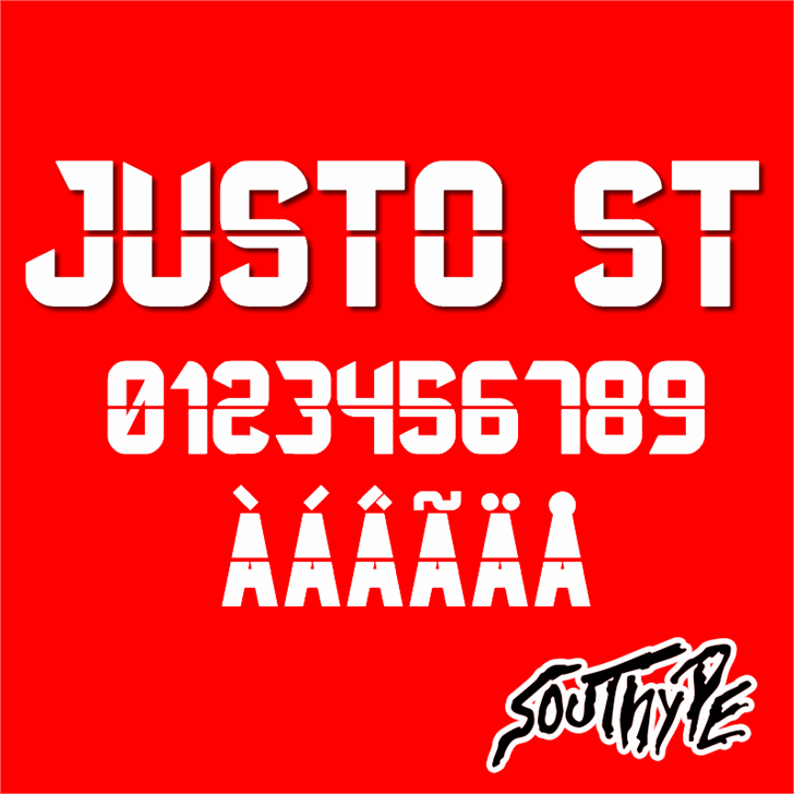Justo St font by Southype