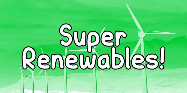 Super Renewables font by Chequered Ink
