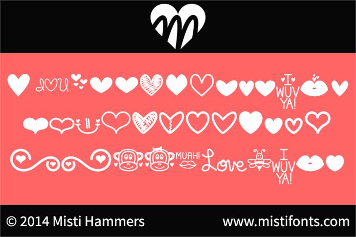 MF Love Dings font by Misti's Fonts