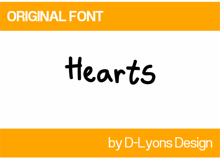 Hearts font by 538Fonts