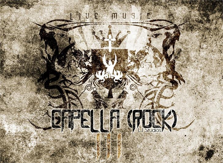 Capella (Rock) III font by LJ Design Studios