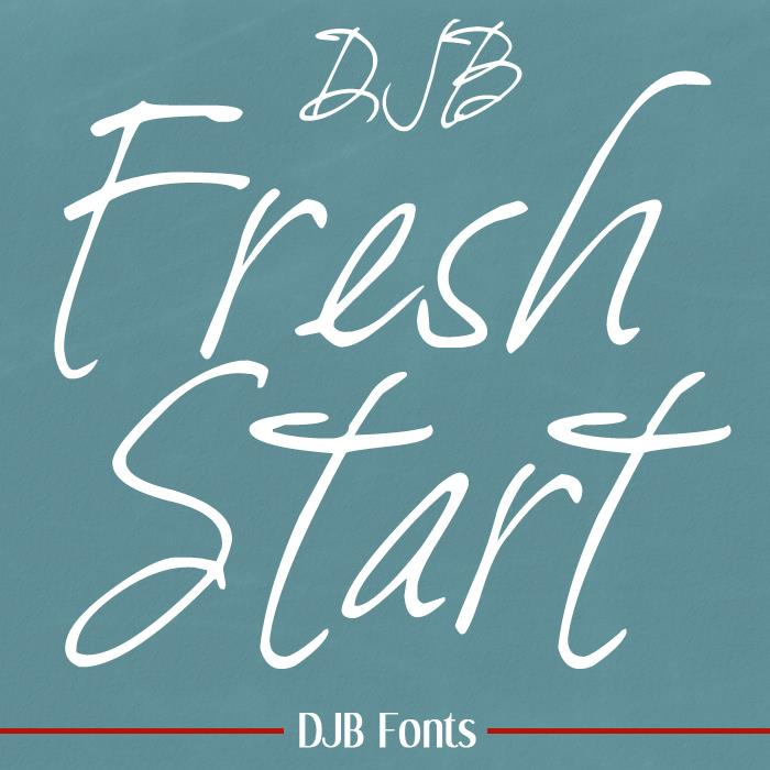 DJB Fresh Start font by Darcy Baldwin Fonts