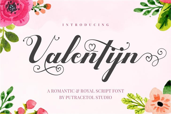 Valentijn FreeVersion font by PutraCetol Studio