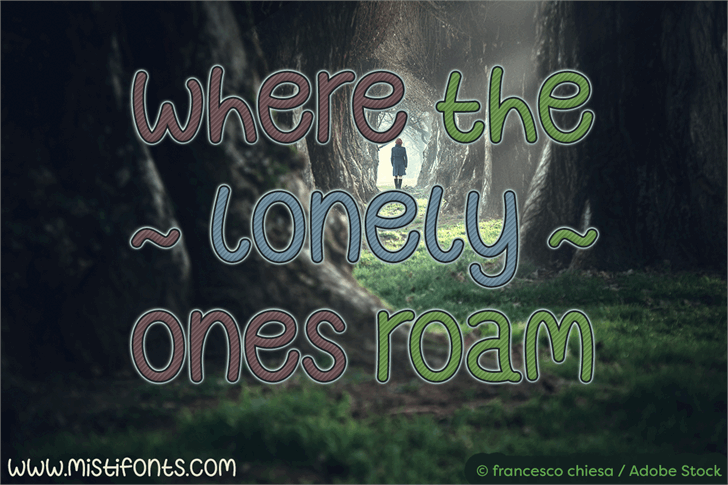 Where The Lonely Ones Roam font by Misti's Fonts