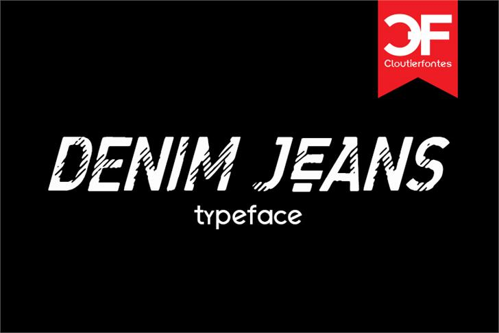 CF Denim Jeans font by CloutierFontes