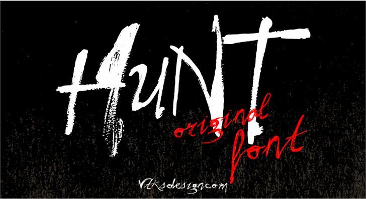 Vtks Hunt font by VTKS DESIGN