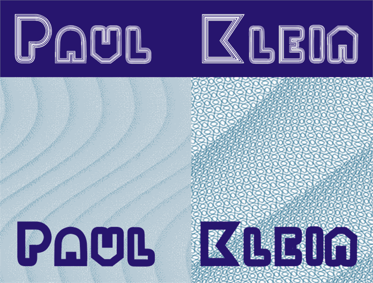 PaulKlein font by Intellecta Design